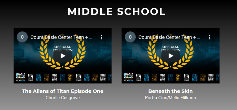 Grover Cleveland Middle School Students Have Entries in Count Basie Film Fest