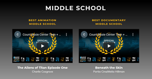 Three Grover Cleveland Middle School Students Win at Film Festival