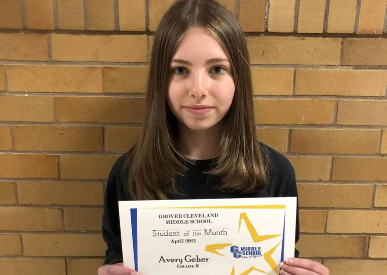 Grover Cleveland Middle School in Caldwell Names April Students of the Month