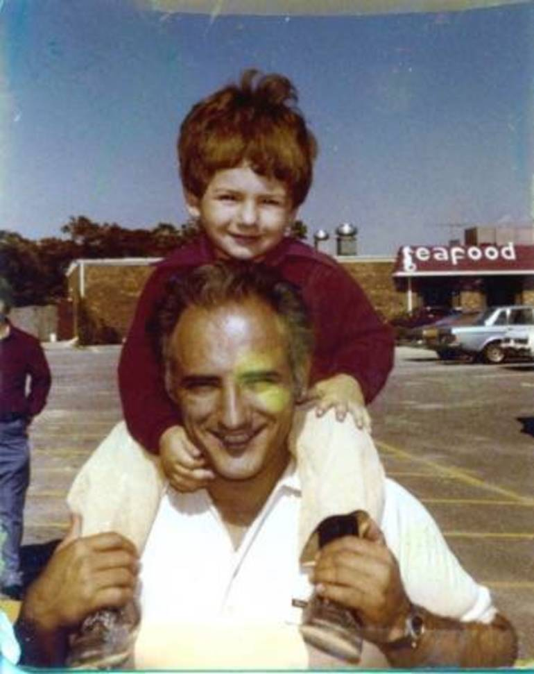 George & Nick Mackres in front of Waretown Plaza with McGeorge's in the background.jpg