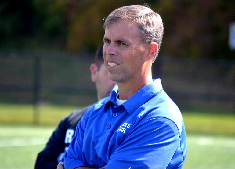 Scotch Plains-Fanwood head coach Kevin Ewing