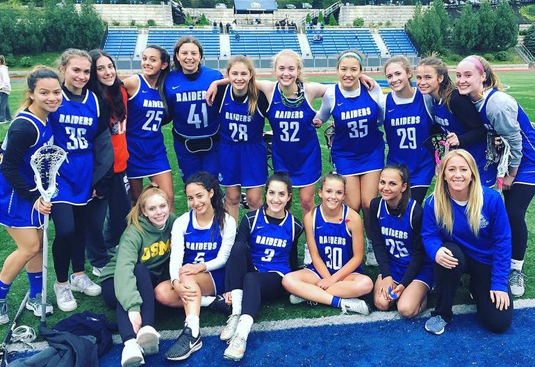 Scotch Plains-Fanwood's 2019 JV girls lacrosse team.