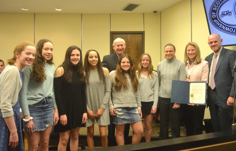 Girls Swim Team at SP Council 3-19-19.png