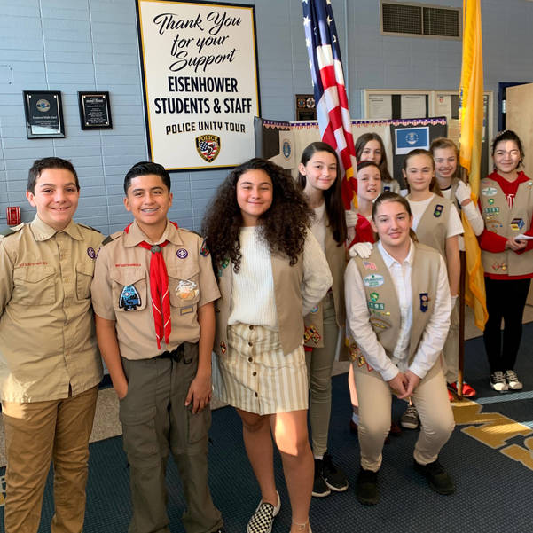 Girl and Boys Scouts at Veterans Assembly1.jpg