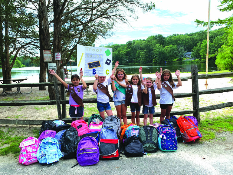 Girl Scouts Collected School Supplies for United Way