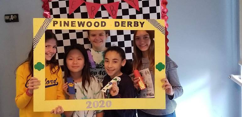 Girl Scouts of Cranford Pinewood Derby 2020.jpg