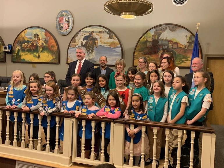Girl Scouts of Cranford Honored by Town Council