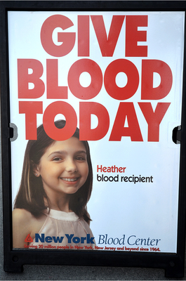 Carousel image ba9e8fe72745377a4918 give blood poster at ny blood center facility in scotch plains