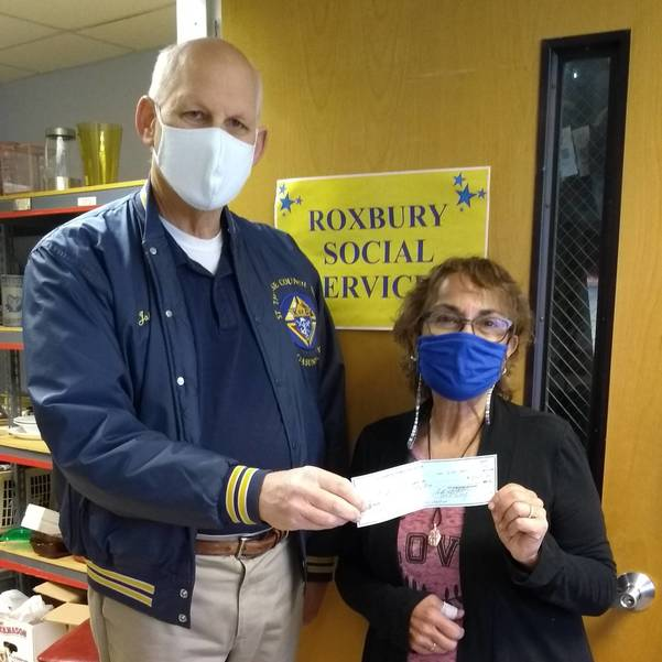 St Therese K of C Donates $2000 to Roxbury Social Services