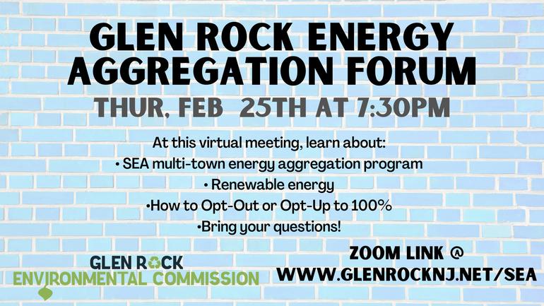 Glen Rock Embarks on Second Community Energy Aggregation Program