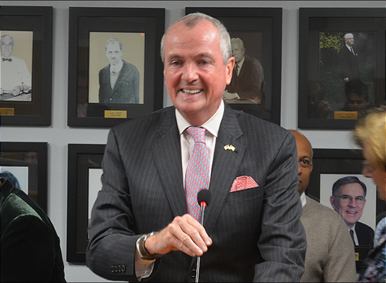 New Jersey Gov. Phil Murphy at the 2020 Fanwood Reorganization Meeting.