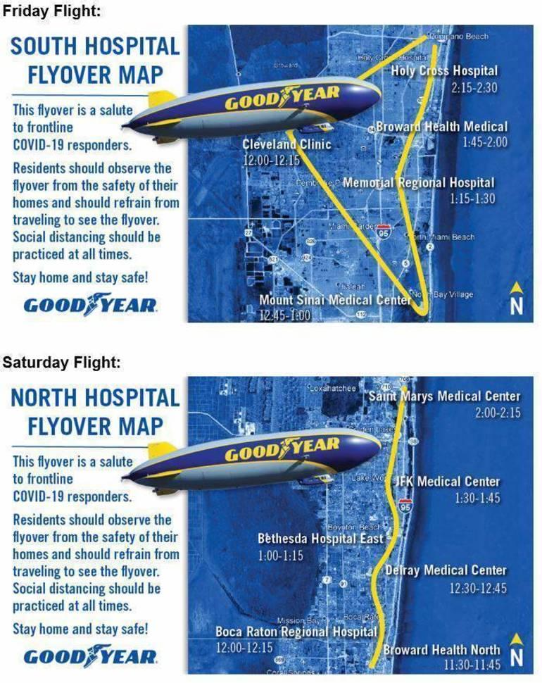 Goodyear Flight Path