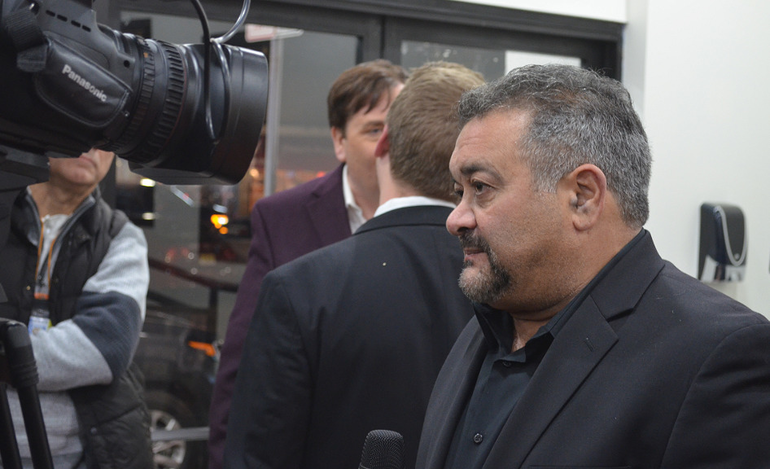 Scotch Plains resident Garry Pastore at the red carpet screening of 'Shooting Heroin'
