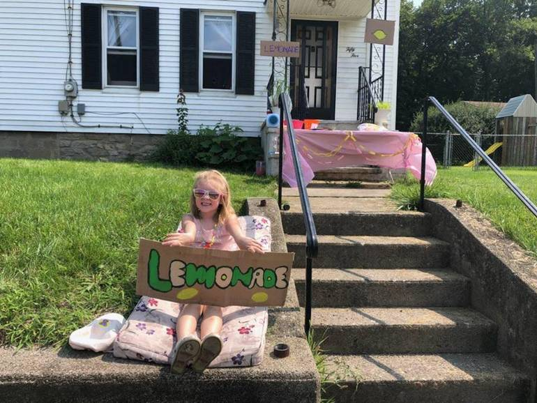 Young Newton Resident Raises Money for Local Food Pantry