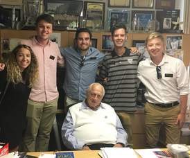 Murray Scholar Christian Gravius with Tommy Lasorda