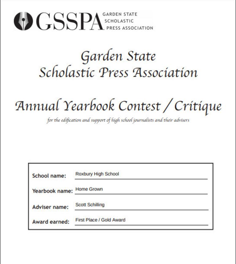 GSSPA Contest Certificate