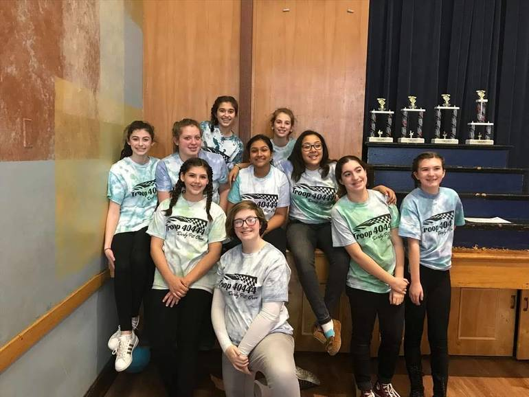 Cranford Girl Scouts Race in 6th Annual Pinewood Derby