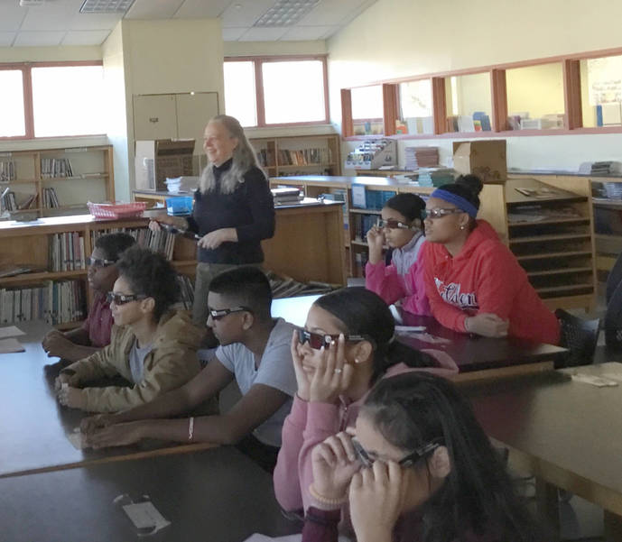 Guest Artist Marylou Bongiorno explains 3D development process.jpg