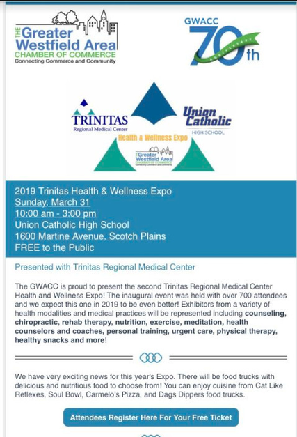 Union Catholic to Host Health & Wellness Expo Sun, March 31 | TAPinto