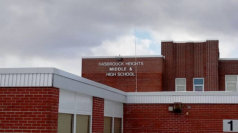 Hasbrouck Heights MS and HS med shot with building March 2018.jpg