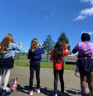 Harding Elementary School in Kenilworth Celebrates Bubbles Day for Autism Awareness