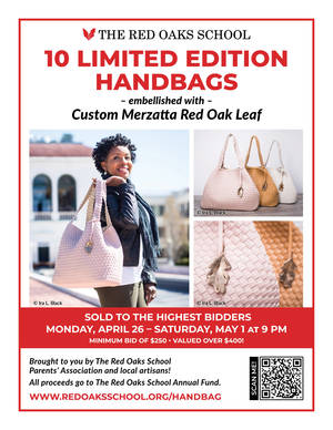 THE RED OAKS SCHOOL and Local artisans CREATE LIMITED EDITION HANDBAGs in exciting school fundraiser