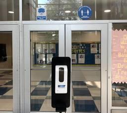 Hackensack Public Schools, hand sanitizer dispenser