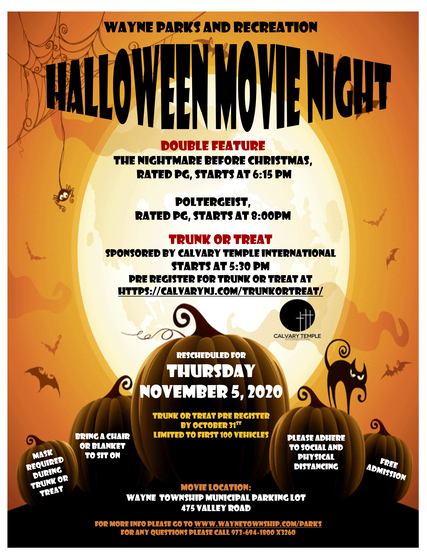 Top story b5456e226112c9884f3e halloween movie night rescheduled