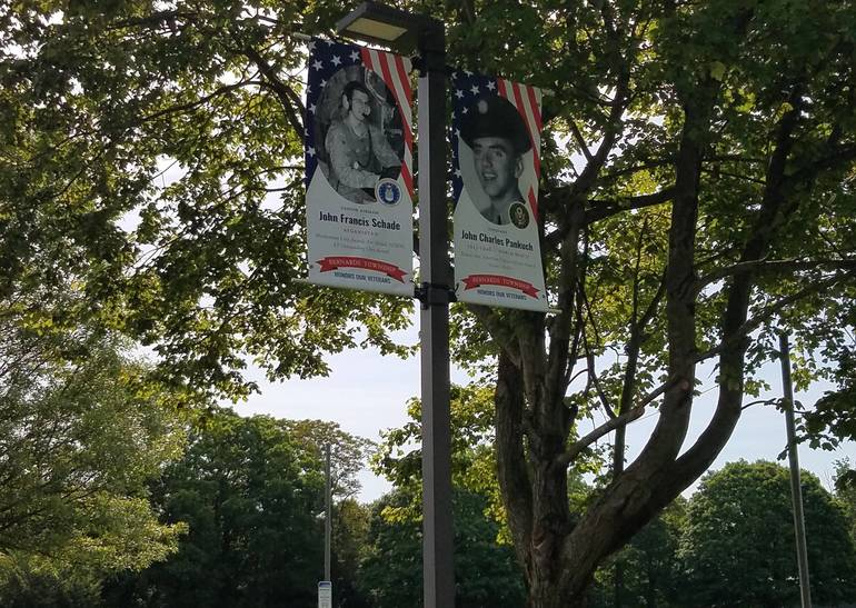Banners at the municipal complex