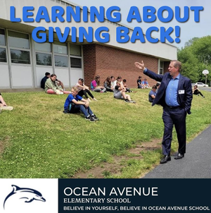 Middletown's Ocean Avenue Elementary School Celebrates 90 Years. HFCF Donates for Fun Day!