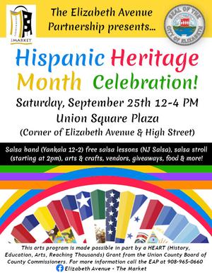 EAP to Celebrate Hispanic Heritage Month on Elizabeth Avenue