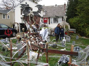 Halloween Spirit Still Alive and Decorated on Denville Township Homes