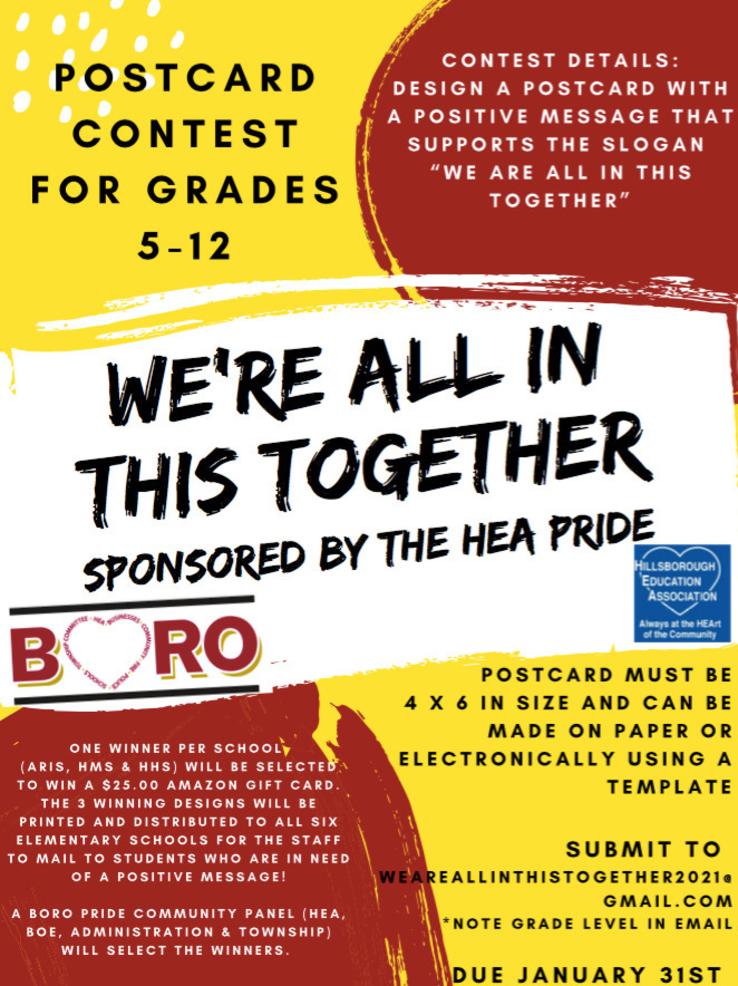 BORO PRIDE: Hillsborough Teachers Sponsor Postcards for Kids Contest