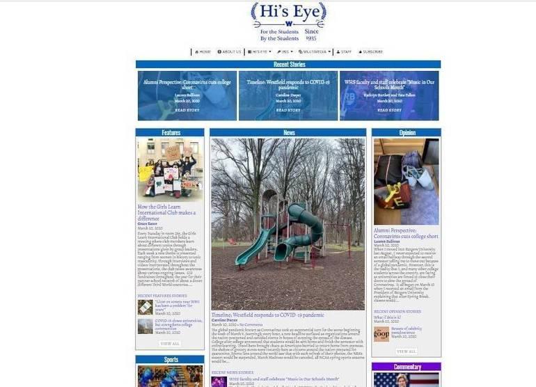 Westfield High School Newspaper Hi's Eye