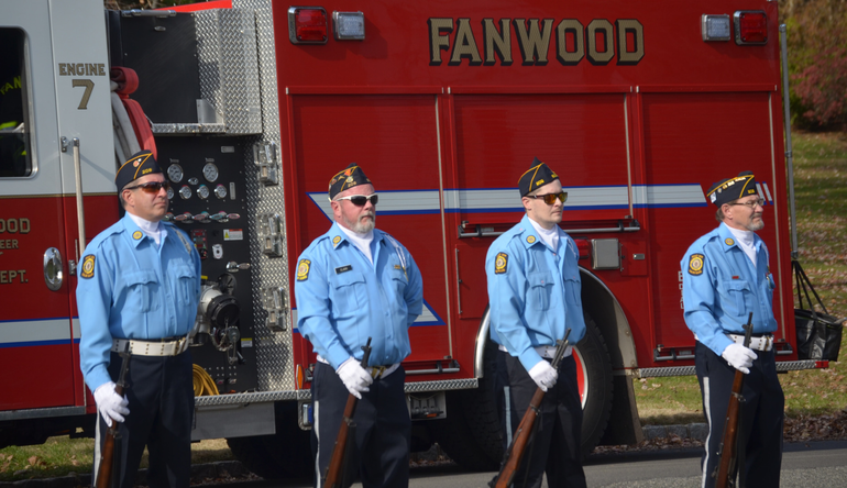 Honor Guard on Veterans Day in Fanwood