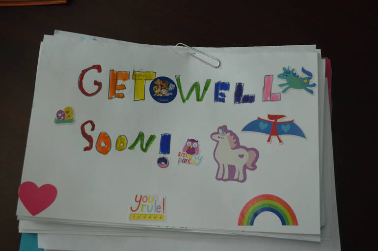 Holy Trinity Students Greeting Cards for Veterans, Seniors, Children's Specialized Hospital