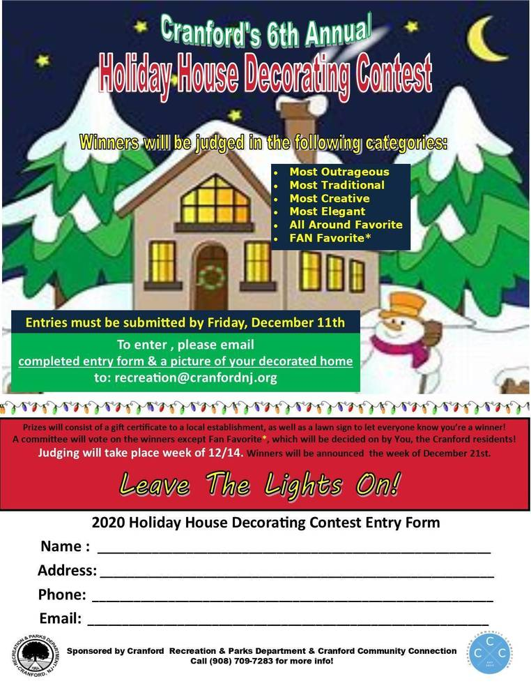 Cranford's Sixth Annual Holiday Decorating Contest