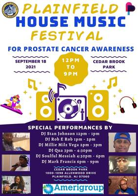 The City of Plainfield Announces its House Music Festival For Prostate Cancer Awareness 2021