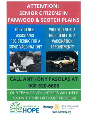 Vaccination Assistance for Scotch Plains-Fanwod Seniors