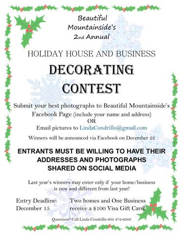 Beautiful Mountainside Announces 2nd Annual Holiday Decorating