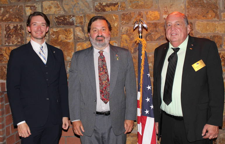 h Past president Michael D. Johnson, Michael King, Frank Cahill.JPG