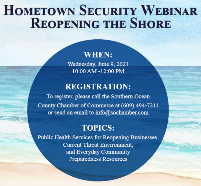 Join Law Enforcement Officials for Hometown Security Seminar June 9