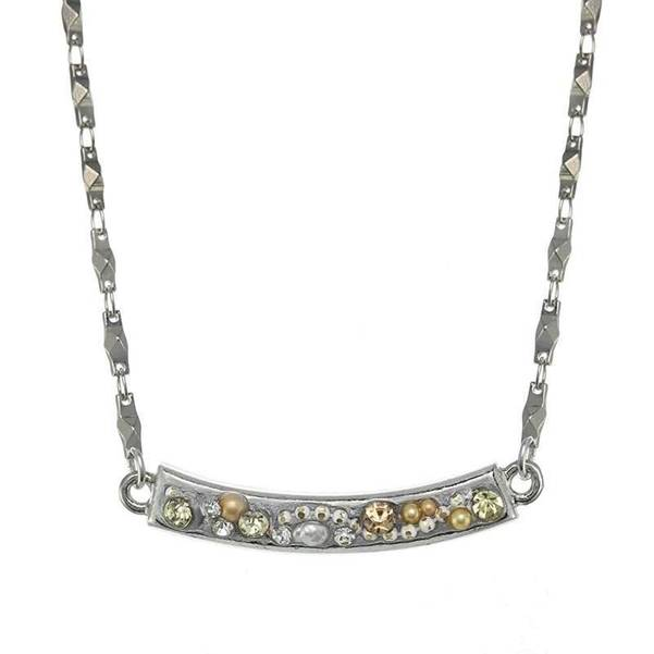 Moonlight Crescent Necklace with Chain
