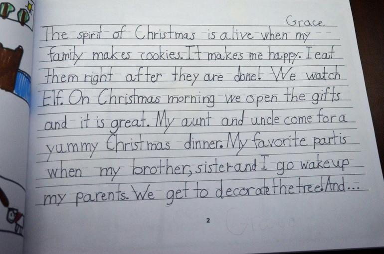 Holy Trinity 1st Graders Publish 'Spirit of Christmas' Book