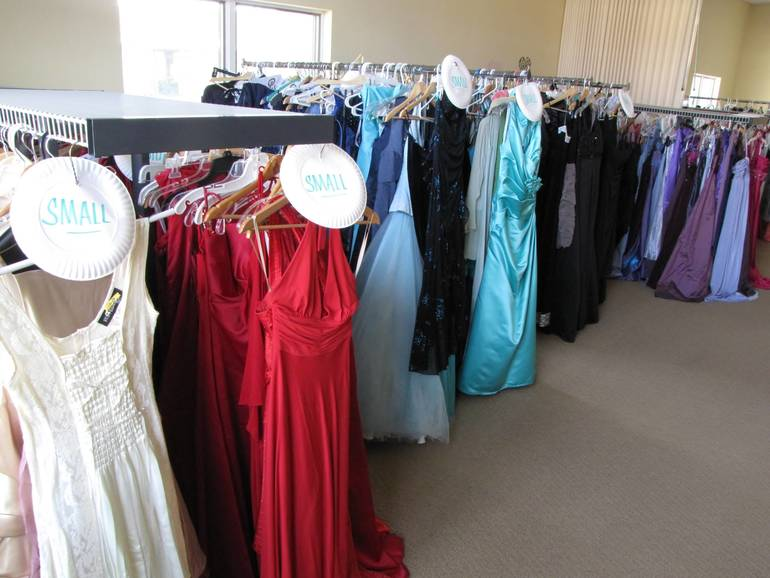Hundreds of free new and gently used prom dresses are available at Project Self-Sufficiency..JPG