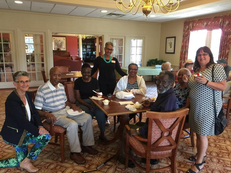 Ice cream social at The Chelsea Senior Living in Fanwood raised $125 for the Fanwood Rescue Squad