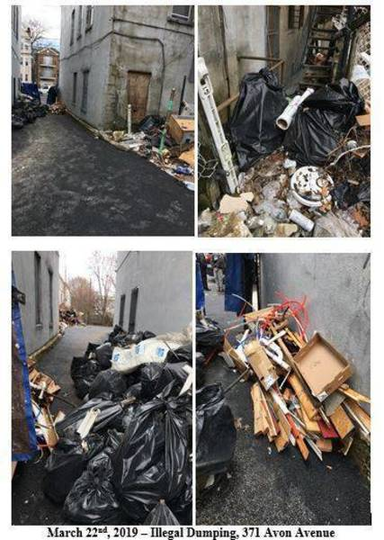 Top story bb9dc00b3728569e3b97 illegal dumping 371 avon ave collage 032219