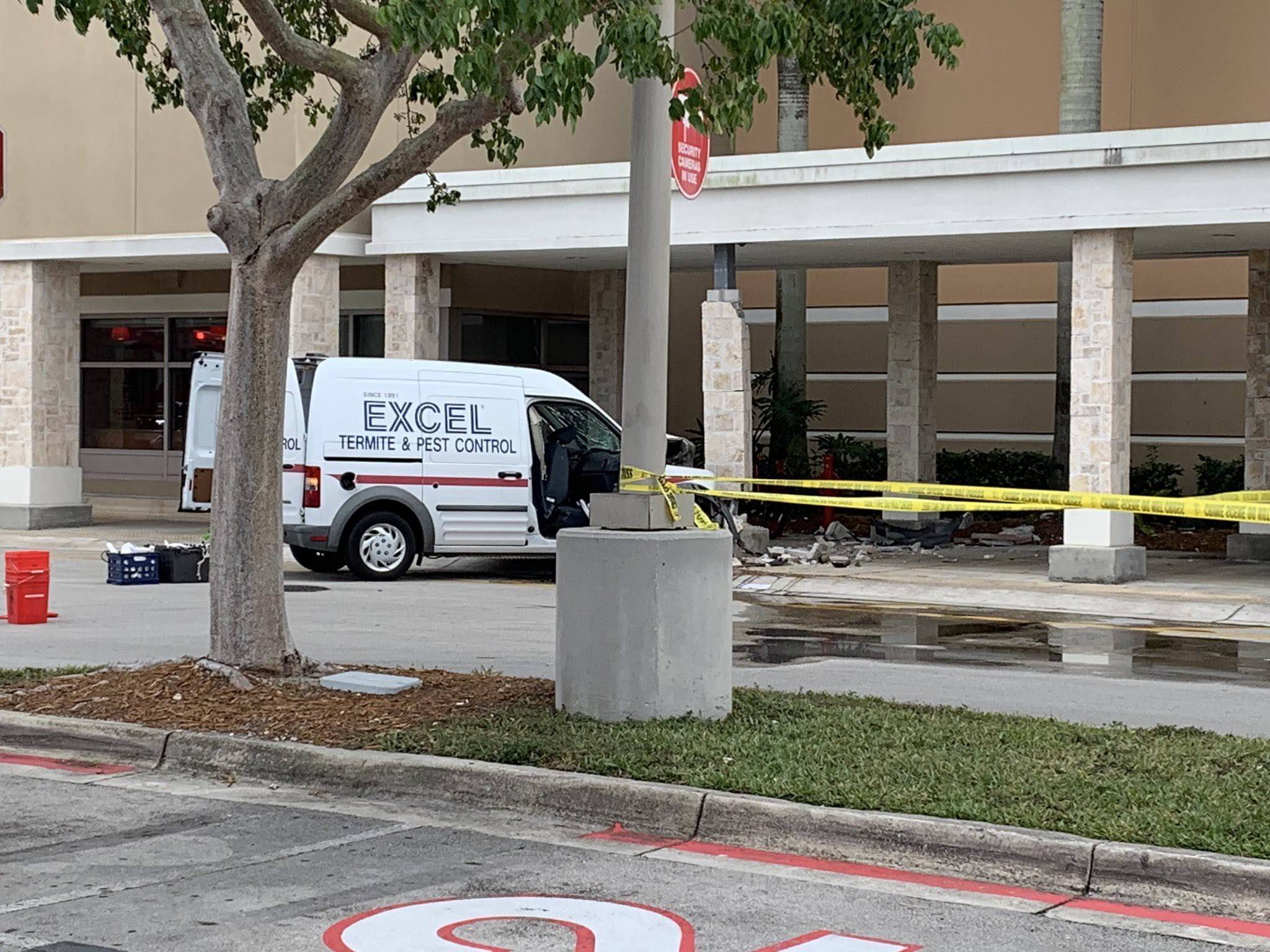 Truck Crashes into Target