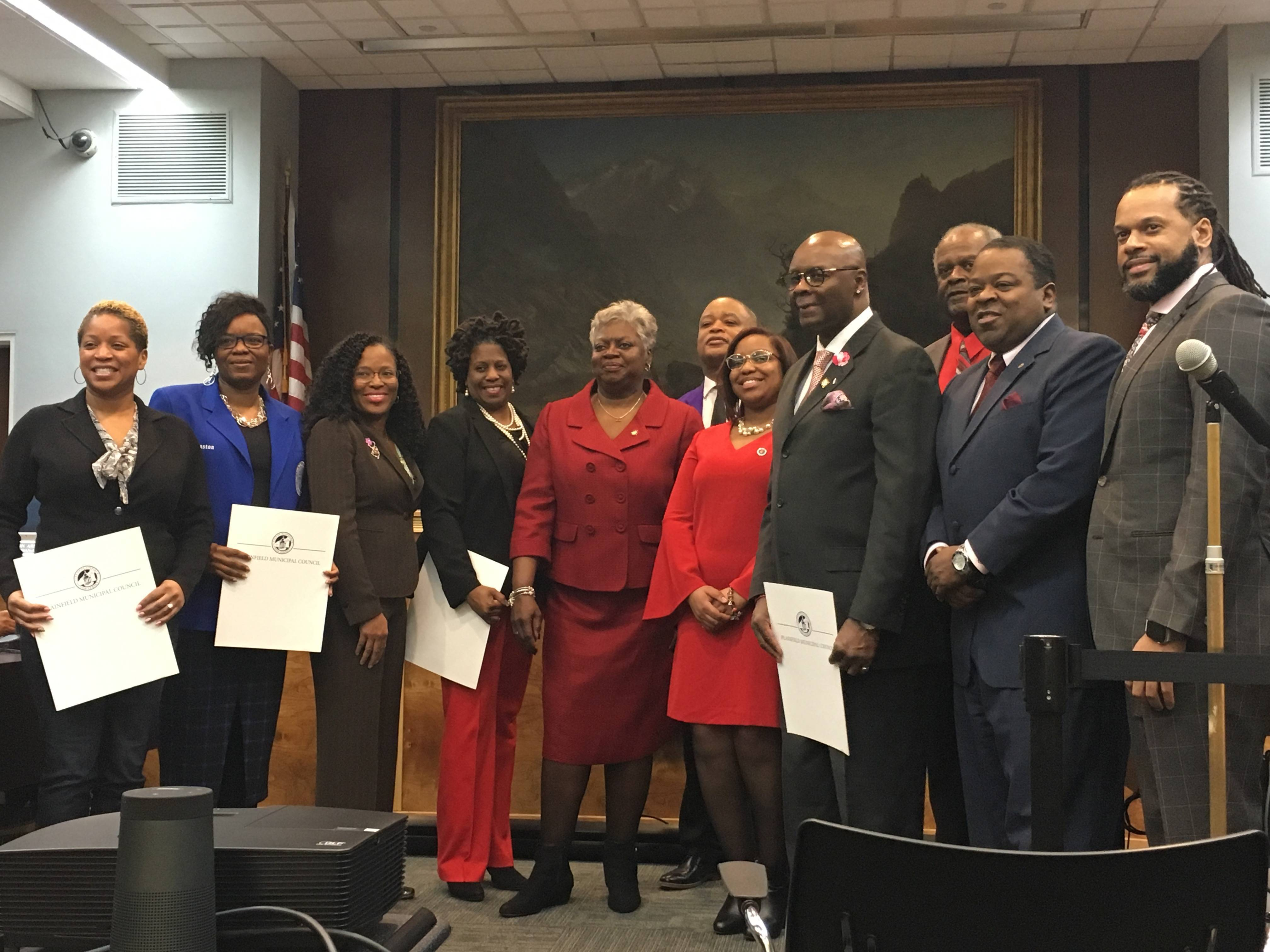 232cd5690ea Members of historically black fraternities and sororities are honored for  their contributions to the Plainfield community Members of historically  black ...