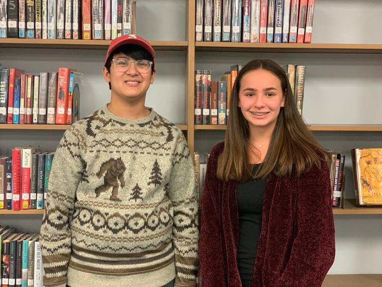 "Jonathan ""JJ"" Dionisio and Taylor Klein are Scotch Plains-Fanwood High School's ""Students of the Month"" for November."